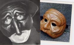 masques de Pantalon et de vieille